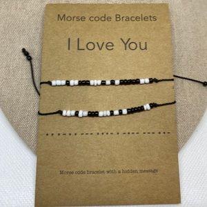 "Jewelry - Morse Code ""I Love You"" Bracelet Set"